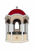 Religious fountain. Vector illustration of a religious element, file EPS 10 Stock Illustration