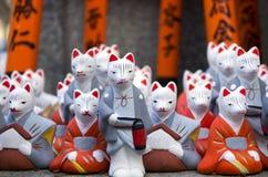 Religious fox statues Stock Image