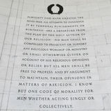 Religious Freedom. Inscription on the northwest quadrant of the Jefferson Memorial in Washington, DC.  Passages were selected from A Bill for Establishing Stock Images