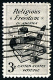 Religious Freedom US Postage Stamp Royalty Free Stock Photo