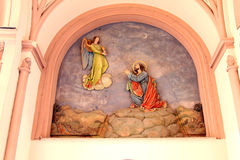 Religious fresco on German church wall Royalty Free Stock Photo