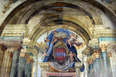 Religious fresco in Sorrento, Italy Royalty Free Stock Photos