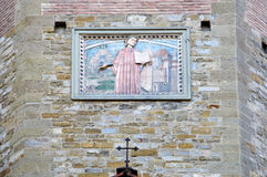 Religious fresco wall decoration Royalty Free Stock Image