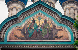 Religious frescoes. On the russian orthodox in buenos aires Stock Photo