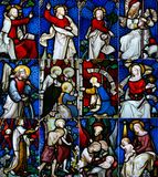 Religious glass window Stock Photo