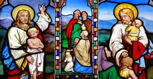 Religious glass windows Stock Photography