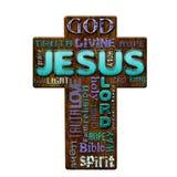 Religious grunge Easter illustration Royalty Free Stock Image
