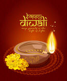 Religious happy diwali background design Royalty Free Stock Image