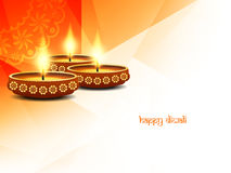 Religious happy diwali background design. Stock Photos