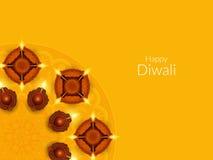 Religious happy diwali background design. Royalty Free Stock Photo