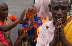 Religious Hindu people of India stock image