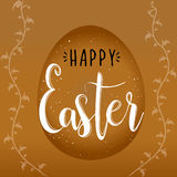 Religious holiday Happy Easter vector. Royalty Free Stock Photo