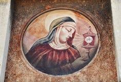 Religious icon. Detail of religious icon in Venice, Italy Royalty Free Stock Image