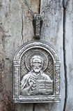 Religious icon of Nikolai ugodnik Royalty Free Stock Photos
