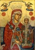 Religious icon. Orthodox religious icon of saint man stock photo