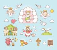 Religious icon set. Set of the religious related icons Royalty Free Stock Image