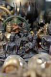 Religious Icons. A shot of a shop selling religious items in Kathmandu Stock Photos