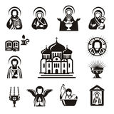 Religious icons. Authors illustration in vector Stock Photo
