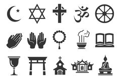 Religious icons. Flat Design Vector Illustration: Religious icons Royalty Free Stock Photography