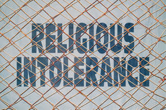 Religious intolerance Royalty Free Stock Images
