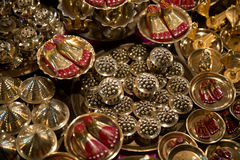 Religious items for sale at Durga Puja, Kolkata Royalty Free Stock Image