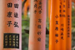 Religious japanese writings Royalty Free Stock Photo