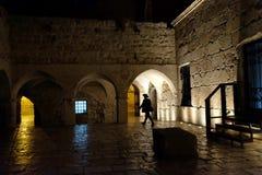 Religious Jew walks next to the Tomb of King David Royalty Free Stock Photos