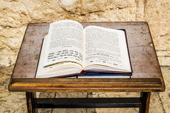 Religious Jewish Book of lies amid the wailing wall in Jerusalem Stock Photos