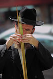 The religious Jews are choosing lulav Stock Photo