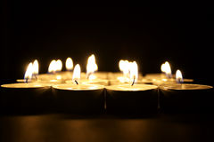 Religious lighted candles Royalty Free Stock Photos