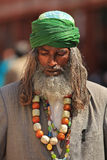 Religious man India. JAIPUR, INDIA, MARCH 4: An unidentified religious man performing prayers in the street outside the City Palace on March 4, 2012 ahead of the Royalty Free Stock Images