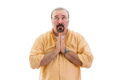 Religious man praying to God Royalty Free Stock Photography