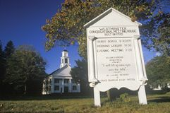 A religious meeting house in Westminster Connecticut Stock Photos