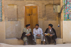 Religious men in Shiraz, Iran stock images