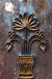 Religious metal carving Royalty Free Stock Photos