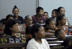 RELIGIOUS MINORITIES OF INDONESIA Stock Photo