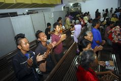 RELIGIOUS MINORITIES OF INDONESIA Stock Images