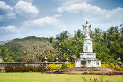 Religious Monument in Goa. India. One of many left behind by Portuguese. Horizontal photo with vibrant colors Royalty Free Stock Photo