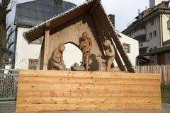 Religious monument in ischigl Stock Image