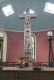 Religious, monument, Ruthwell Runic Cross Royalty Free Stock Image