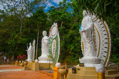 Religious monument to the Buddha. Royalty Free Stock Images