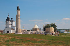 Religious monuments of different centuries. Bulgar, Russia Royalty Free Stock Photography