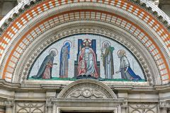 Religious Mosaic at Westminster Cathedral Royalty Free Stock Image