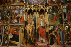 Free Religious Mural At The Museum In Barcelona Royalty Free Stock Image - 130143816