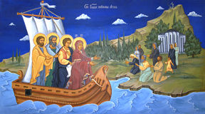 Religious mural painting Royalty Free Stock Photography