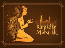 Religious Muslim boy for Ramadan Mubarak celebration. Royalty Free Stock Photo