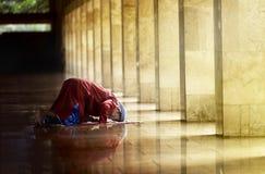 Religious muslim man praying Royalty Free Stock Photos