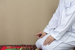 Islamic culture. Religious muslim man praying stock images