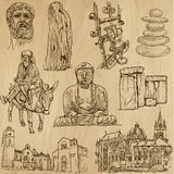 Religious no.4 - Vector pack, hand drawings Royalty Free Stock Photo