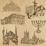 Religious no.9 - Vector pack, hand drawings Royalty Free Stock Photos